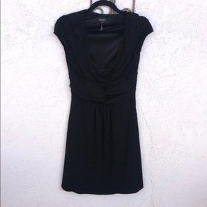Laundry by Shelli Segal Ruched Waist Black Dress